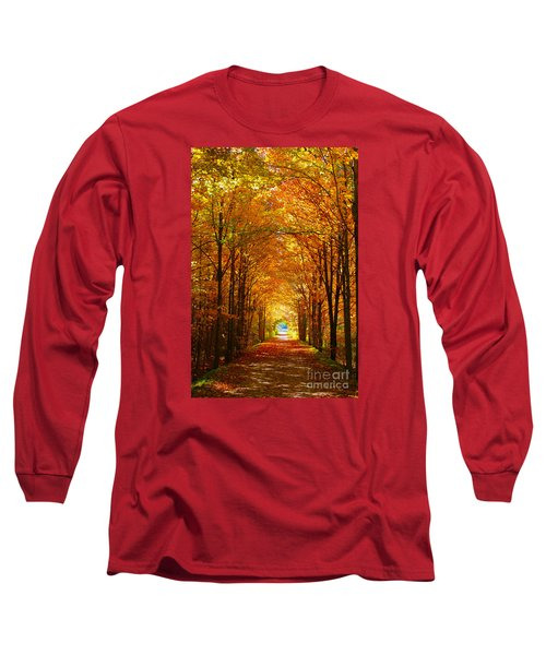 Autumn Light And Leaf Painting Long Sleeve T-Shirt