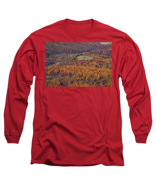 Autumn Mountain Side Long Sleeve T-Shirt
