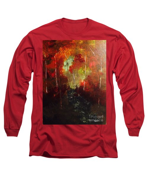 Long Sleeve T-Shirt featuring the painting Sunset Trail by Denise Tomasura