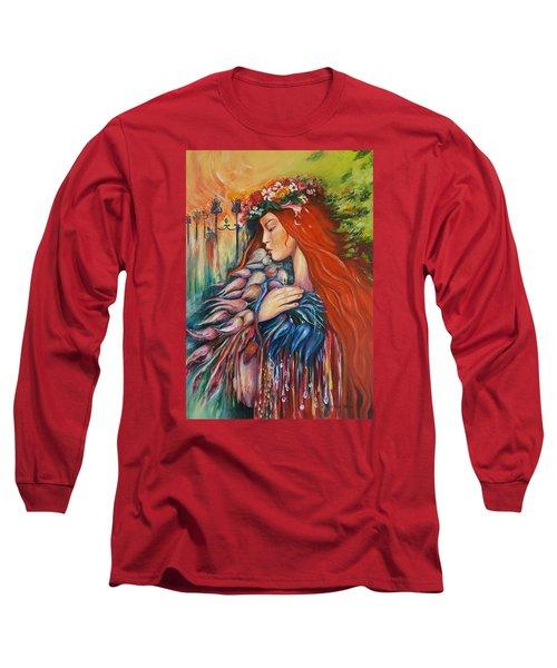 Autumn Long Sleeve T-Shirt by Rita Fetisov