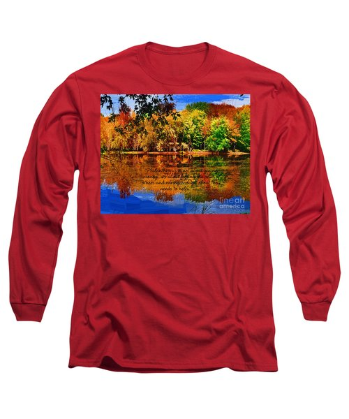 Long Sleeve T-Shirt featuring the painting Autumn Serenity Philanthropy Painted by Diane E Berry