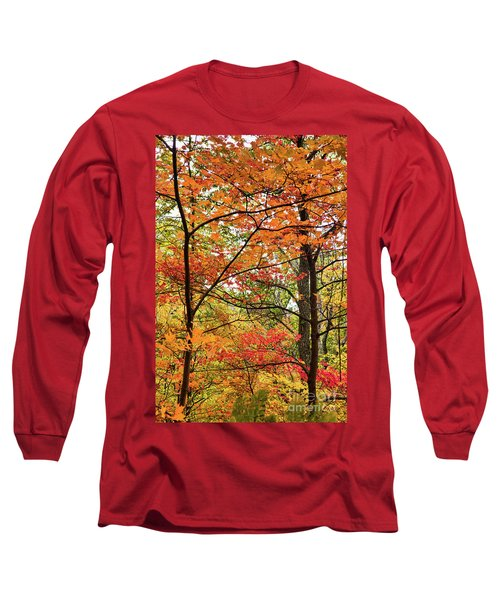 Long Sleeve T-Shirt featuring the photograph Autumn Splendor Fall Colors Leaves And Trees by Dan Carmichael