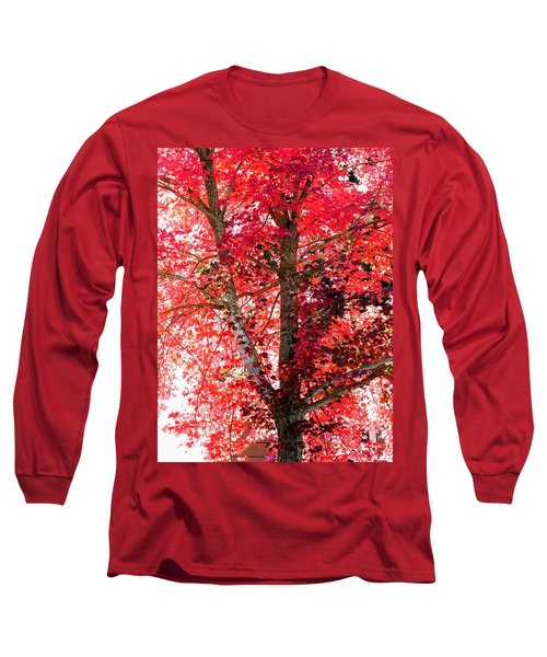 Long Sleeve T-Shirt featuring the photograph Autumn Tree by Michael Dohnalek