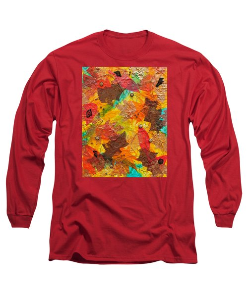 Autumn Leaves Underfoot Long Sleeve T-Shirt by Michele Myers