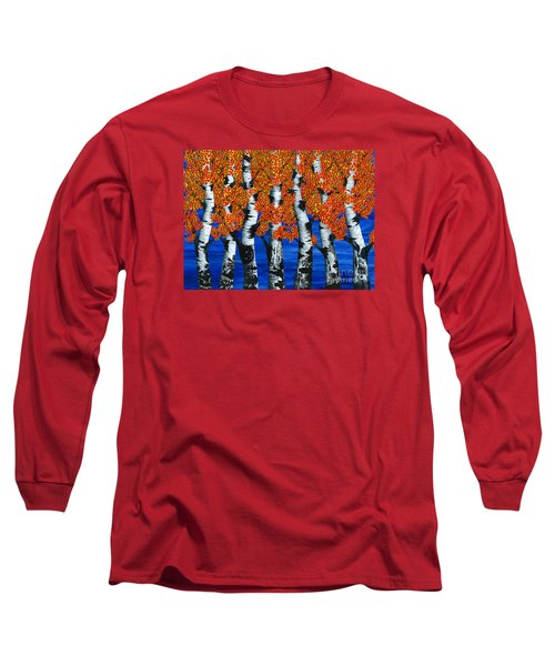 Autumns Farewell Party Long Sleeve T-Shirt by Rebecca Parker