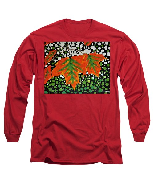 Long Sleeve T-Shirt featuring the painting Autumns Kiss by Kathleen Sartoris