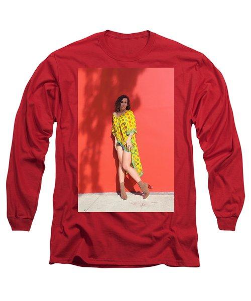 Ava Milva Standing Long Sleeve T-Shirt by Viktor Savchenko