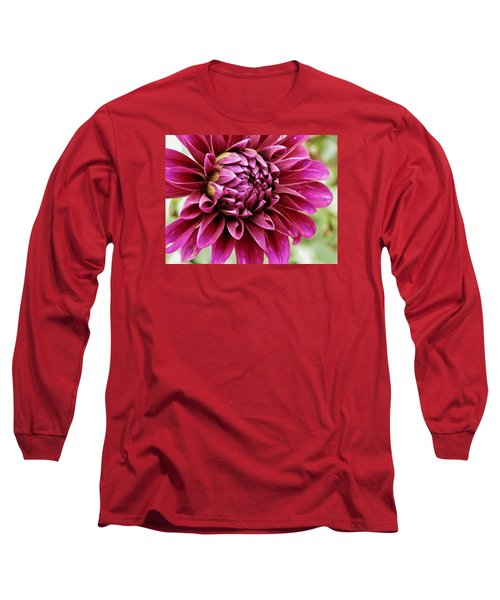 Awesome Dahlia Long Sleeve T-Shirt by VLee Watson