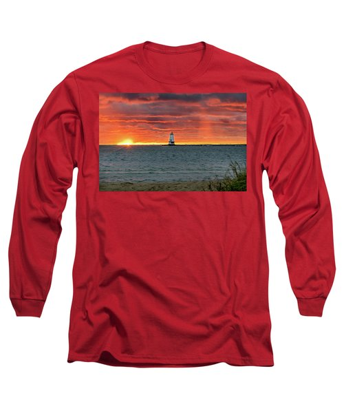 Awesome Sunset With Lighthouse  Long Sleeve T-Shirt
