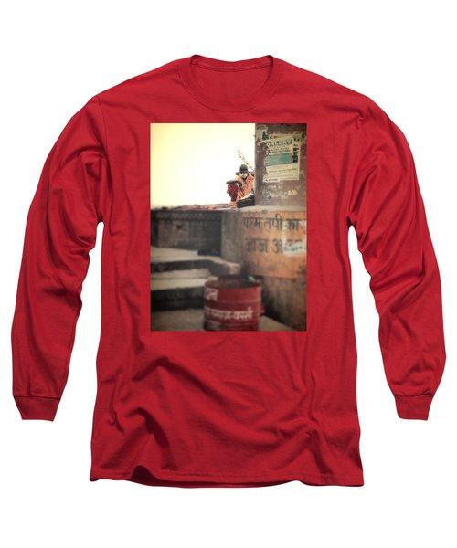 Baba At The Ghats Long Sleeve T-Shirt
