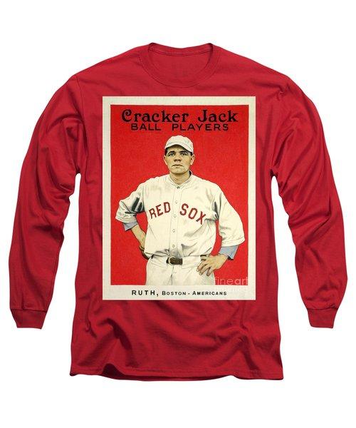 Babe Ruth Cracker Jack Card Long Sleeve T-Shirt