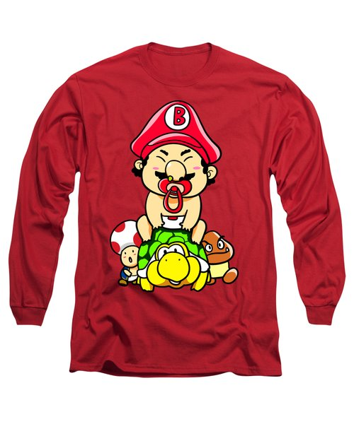Baby Mario And Friends Long Sleeve T-Shirt by Paws Pals