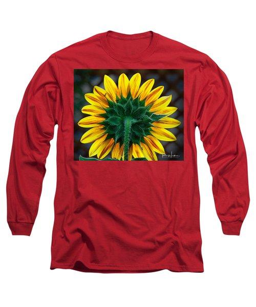 Back Of Sunflower Long Sleeve T-Shirt