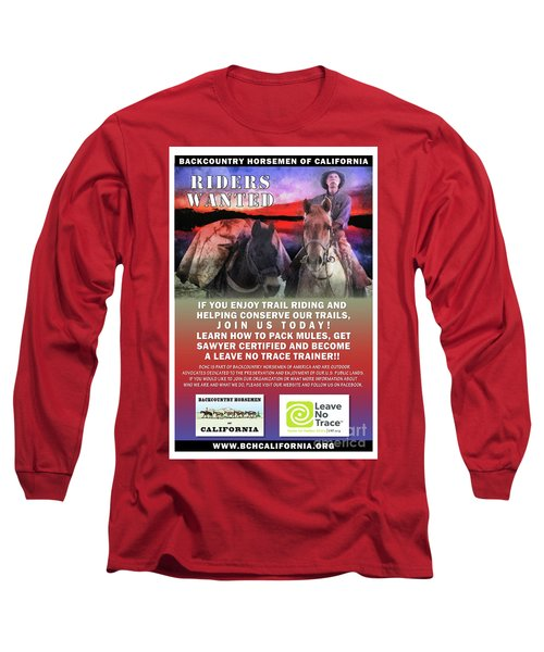 Backcountry Horsemen Join Us Poster II Long Sleeve T-Shirt