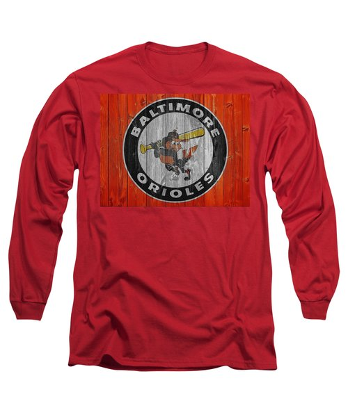 Baltimore Orioles Graphic Barn Door Long Sleeve T-Shirt by Dan Sproul