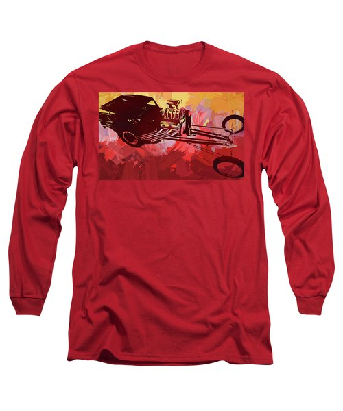 Bantam Dragster Pop Red Long Sleeve T-Shirt