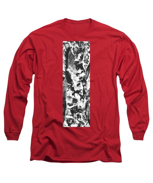 Long Sleeve T-Shirt featuring the painting Barber by Carol Rashawnna Williams