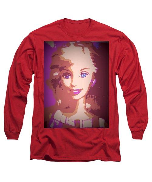 Barbie Hip To Be Square Long Sleeve T-Shirt by Karen J Shine
