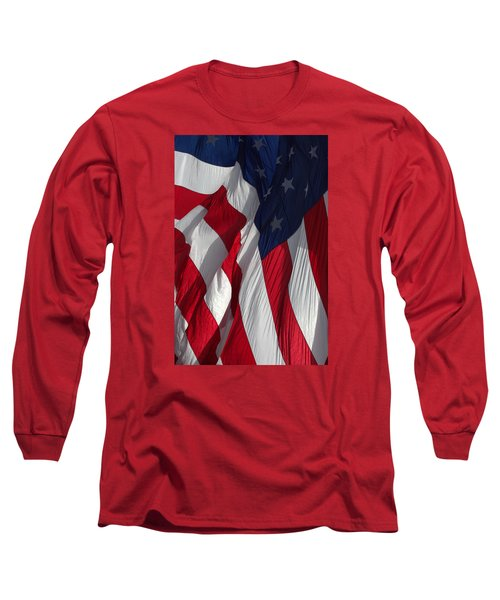 Battle Flag Flies Aboard Uss Cape St. George Long Sleeve T-Shirt