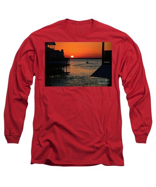 Bayou Vista Sunset Long Sleeve T-Shirt