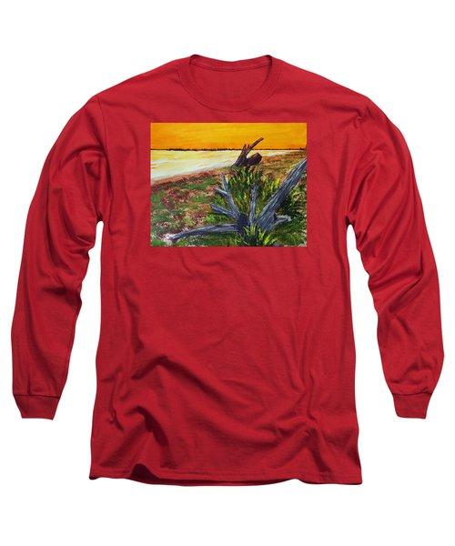 Beach Sunset Long Sleeve T-Shirt by Jack G  Brauer