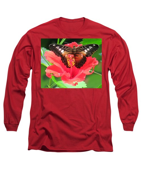 Beautiful Butterfly Long Sleeve T-Shirt by Betty Buller Whitehead