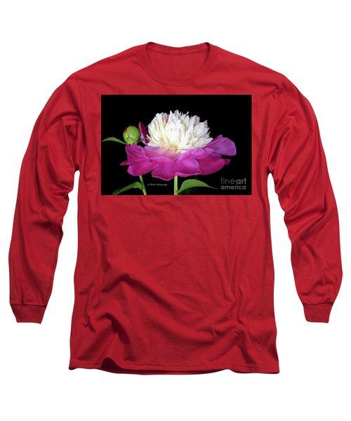 Beautiful Fancy Peony Long Sleeve T-Shirt by Jeannie Rhode