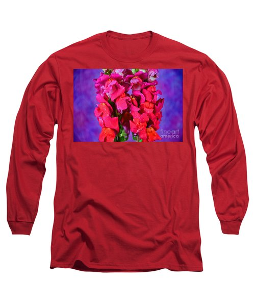 Beautiful Snapdragon Flowers Long Sleeve T-Shirt by Ray Shrewsberry