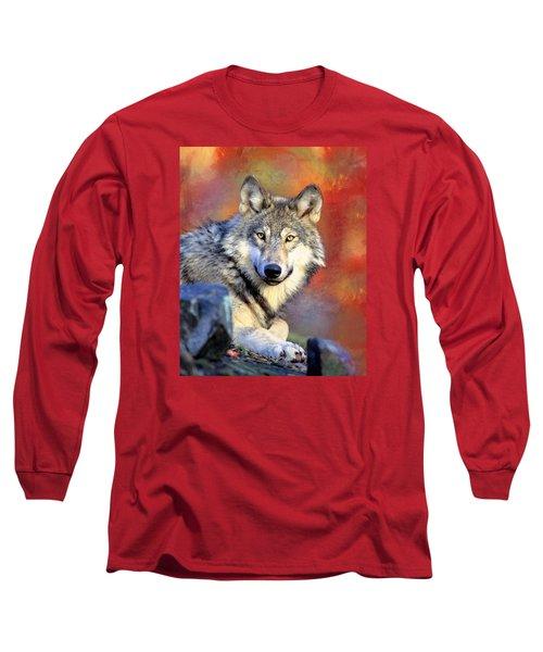 Beautiful Wolf Art Long Sleeve T-Shirt