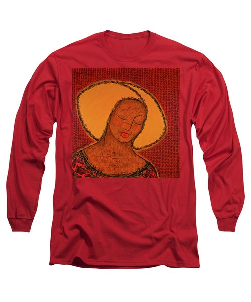 Long Sleeve T-Shirt featuring the mixed media Beauty Of Silence by Gloria Rothrock