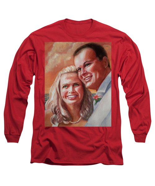 Long Sleeve T-Shirt featuring the painting Becky And Chris by Marilyn Jacobson