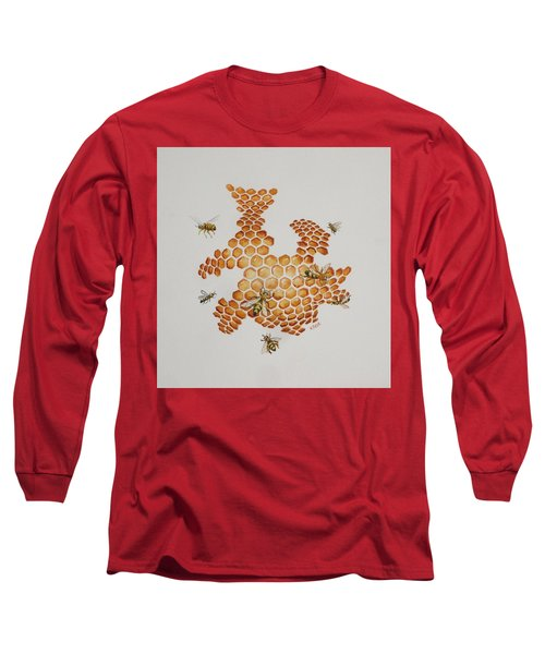 Long Sleeve T-Shirt featuring the painting Bee Hive # 1 by Katherine Young-Beck