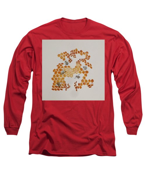 Long Sleeve T-Shirt featuring the painting Bee Hive # 5 by Katherine Young-Beck