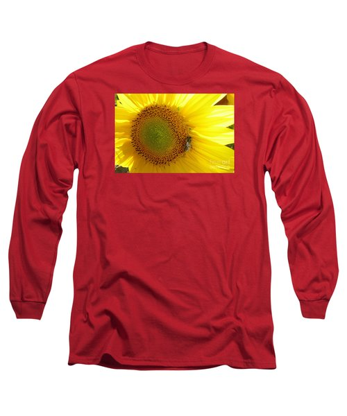 Long Sleeve T-Shirt featuring the photograph Bee On Sunflower by Jean Bernard Roussilhe