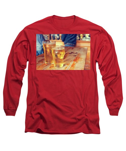 Long Sleeve T-Shirt featuring the photograph Beers In A Pub by Patricia Hofmeester