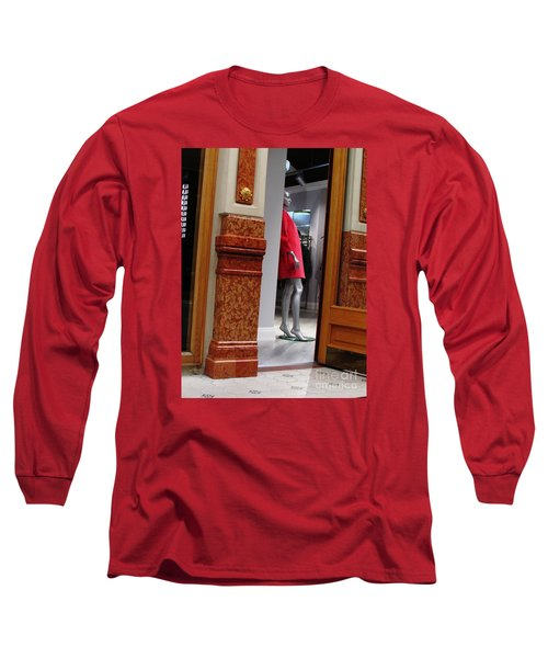 Behind Doors Long Sleeve T-Shirt by Anna Yurasovsky