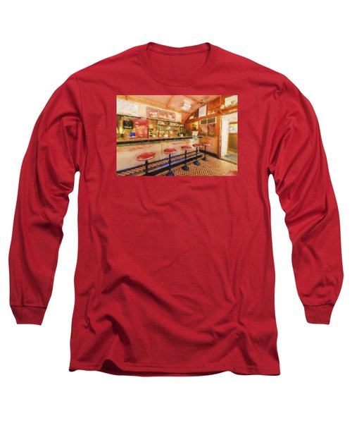 Long Sleeve T-Shirt featuring the photograph Bellows Falls Diner by Tom Singleton