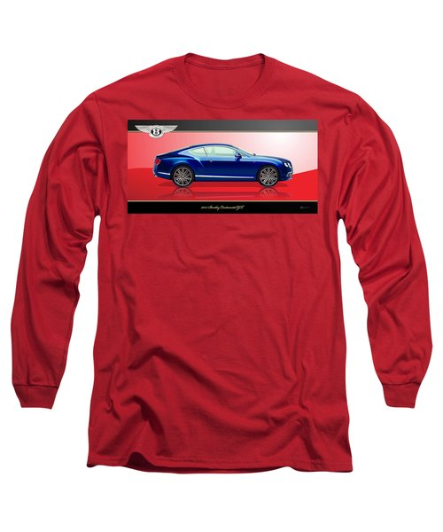 Bentley Continental Gt With 3d Badge Long Sleeve T-Shirt