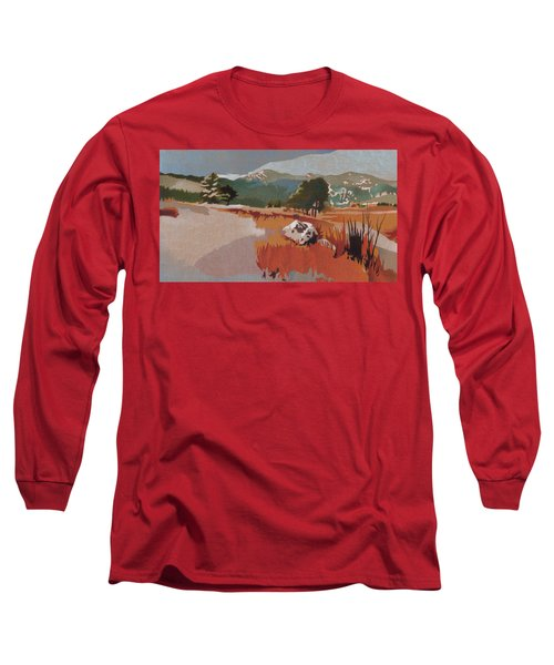 Bergen Peak First Snow Long Sleeve T-Shirt by Dan Miller