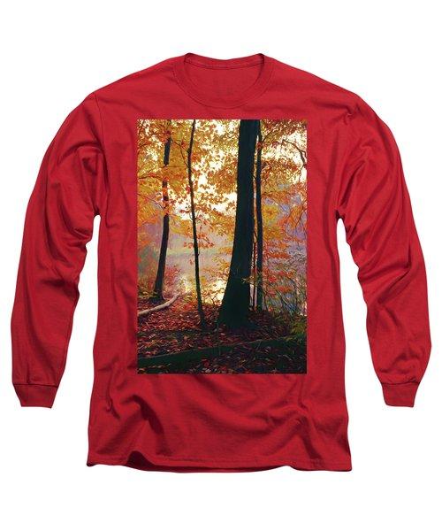 Bernharts Dam Fall 031 Long Sleeve T-Shirt by Scott McAllister