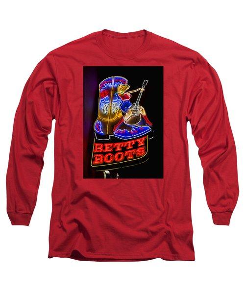 Betty Boots Long Sleeve T-Shirt