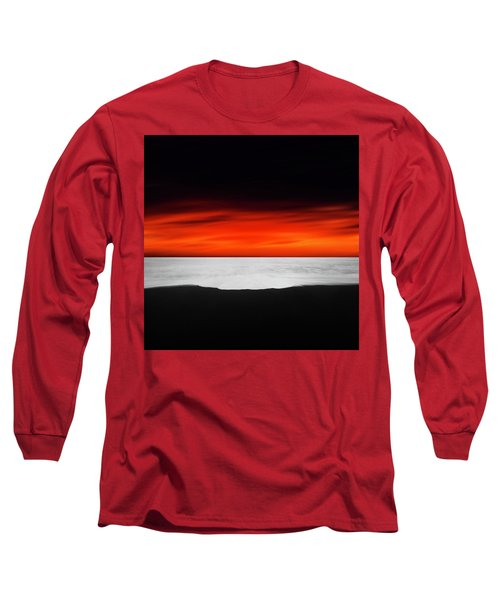 Between Red And Black Long Sleeve T-Shirt