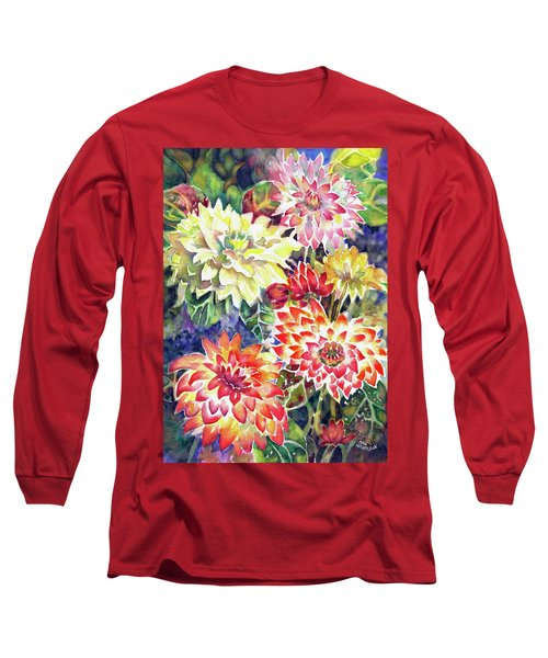 bety's Dahlias Long Sleeve T-Shirt