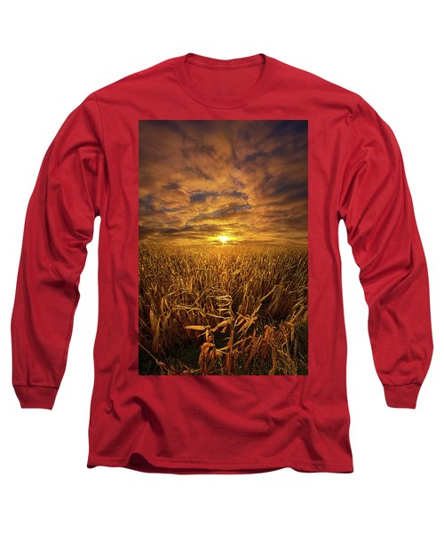 Long Sleeve T-Shirt featuring the photograph Beyond The Harvest by Phil Koch