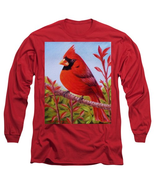 Big Red Long Sleeve T-Shirt by Gene Gregory