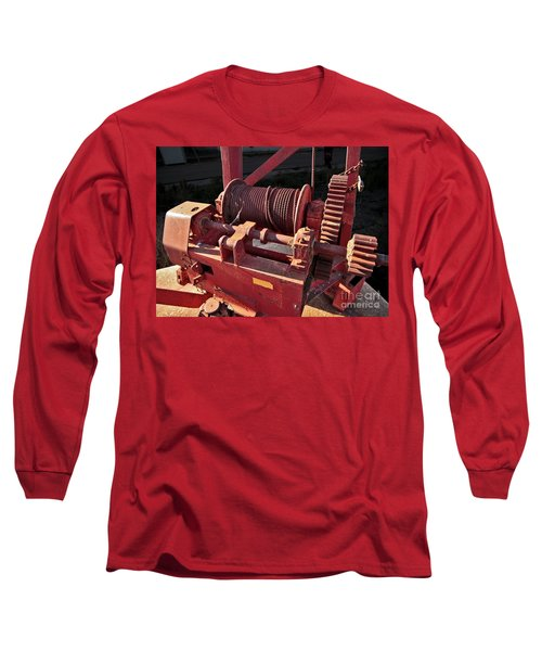 Long Sleeve T-Shirt featuring the photograph Big Red Winch by Stephen Mitchell
