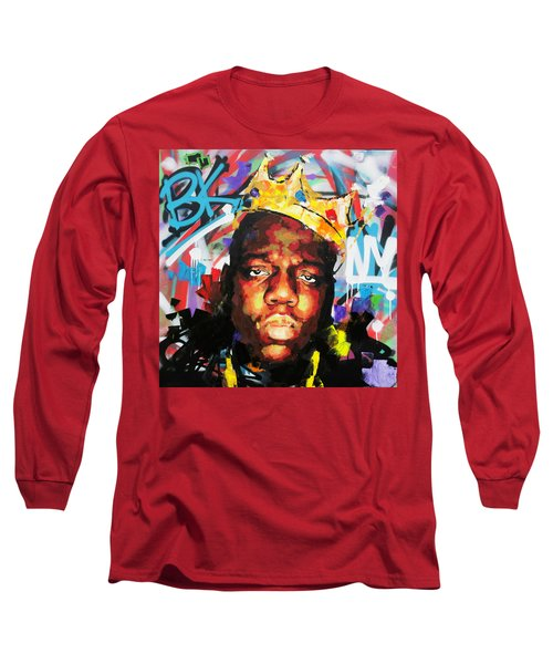 Long Sleeve T-Shirt featuring the painting Biggy Smalls IIi by Richard Day