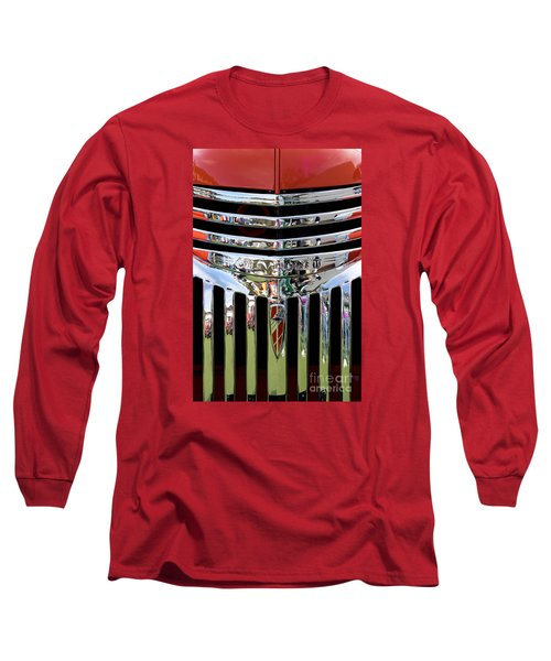 Chevrolet Grille 04 Long Sleeve T-Shirt by Rick Piper Photography