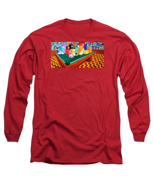 Billiard Table Long Sleeve T-Shirt by Cyril Maza