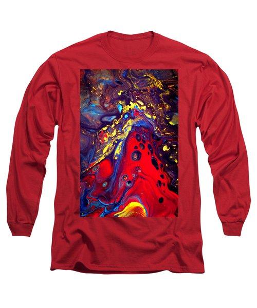 Billion Stars Hotel  - Abstract Colorful Mixed Media Painting Long Sleeve T-Shirt
